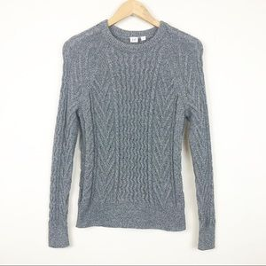 Gap Heavy Cable Knit Marled Sweater Size S